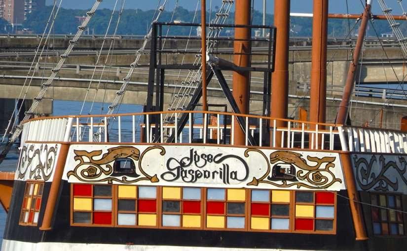 AUG 9, 2015 - The Jose Gasparilla Spanish Pirate Ship docked in Tampa, FL USA/photonews247.com