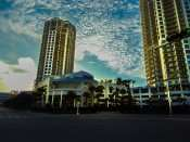 NOV 8, 2015 - The Towers Apartment complexes, art the two buildings that look the same in Channelside Tampa, FL/photonews247.com