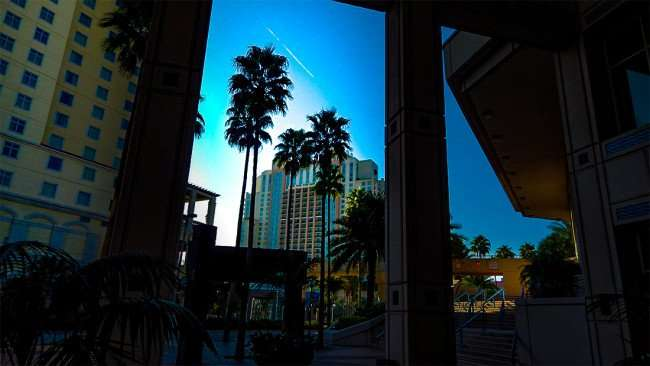 AUG 9, 2015 - View of Marriott Hotel from Tampa Convention Center/photonews247.com