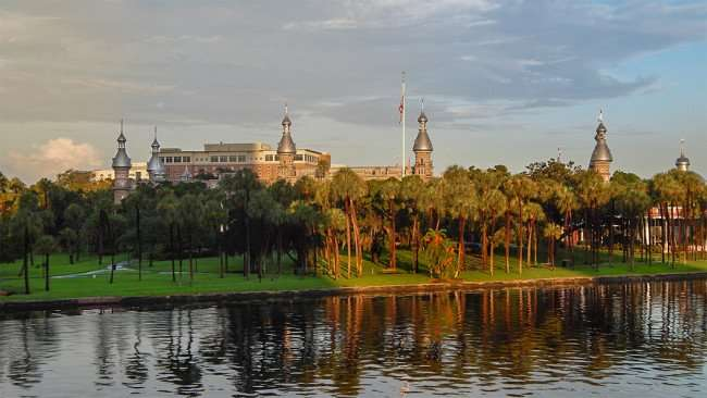 JULY 26, 2015 - A view of University of Tampa from Nations Bank Park looking over Hillsborough River in Downtown Tampa, FL/photonews247.com