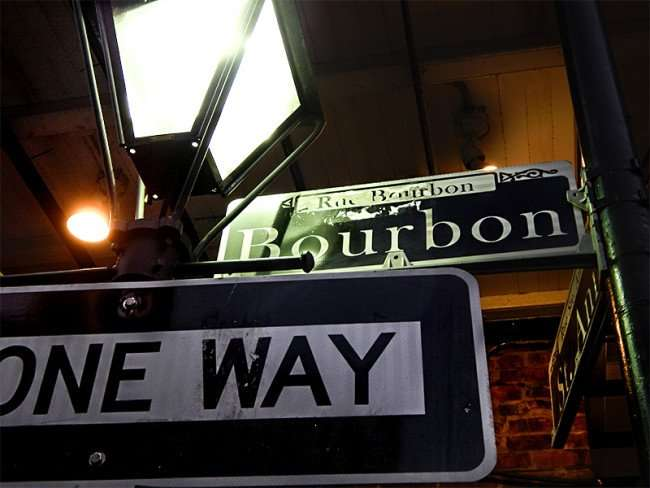 SEPT 14, 2015 - Street sign Orleans Steet (Rue D Orleans) and Bourbon Street (Rue Bourbon), French Quarter/photonews247.com/photonews247.com