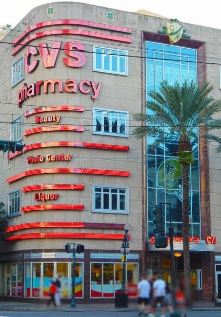 SEPT 13, 2015 - CVS Pharmacy four story on Canal Street in New Orleans, FL/photonews247.com