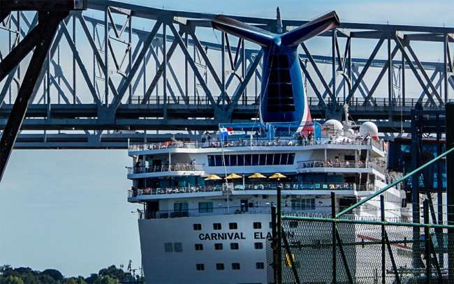 SEPT 14, 2015 - Carnival Elation cruise ship docked on the Mississippi river in New Orleans, LA/photonews247.com
