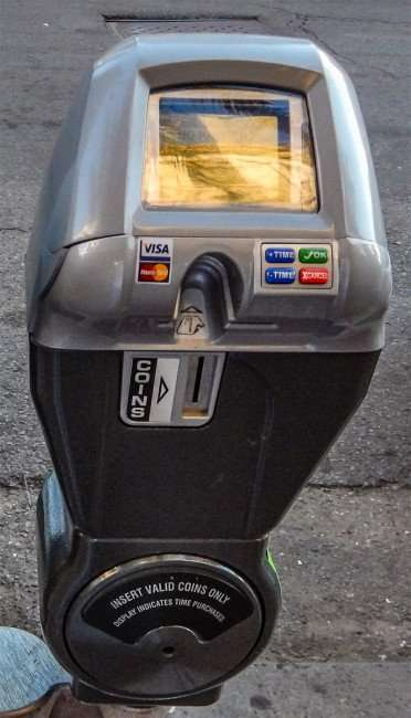 SEPT 13, 2015 - Close up of New Orleans parking meter on Canal Street in New Orleans, LA/photonews247.com