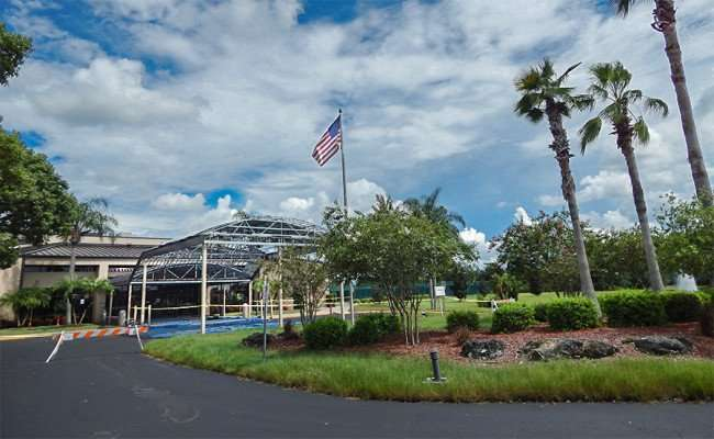 AUG 23, 2015 - Community Hall construction site on S Pebble Beach Blvd, Sun City Center, FL/photonews247.com