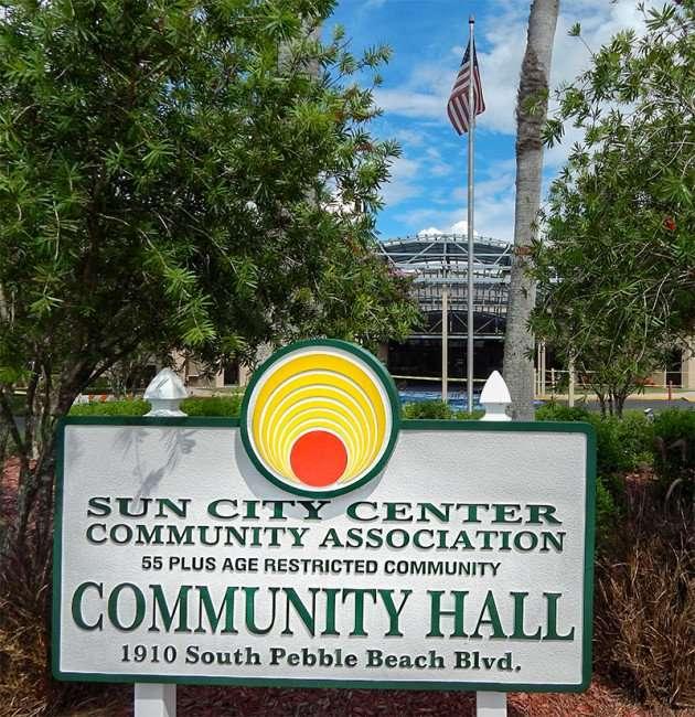 SEP 4, 2015 - Construction at Community Hall S Pebble Beach, Sun City Center, FL/photonews247.com