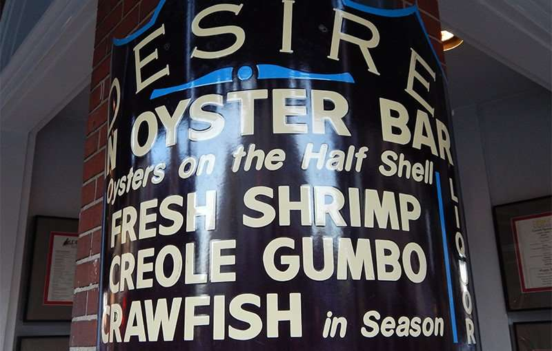 SEPT 13, 2015 - Desire Oyster Bar for authentic Creole that includes crawfish, shrimp, lobster on Bourbon Street/photonews247.com