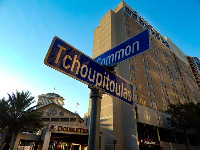 SEPT 14, 2015 - DoubleTree Hilton from corner of Common and Tchoupitoulas Streets in New Orleans, LA/photonews247.com