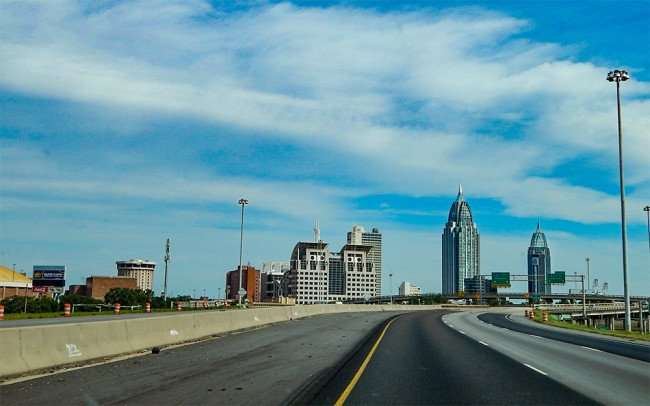 SEPT 13, 2015 - Entering Downtown Mobile Alabama from Eastbound Hwy 10/photonews247.com