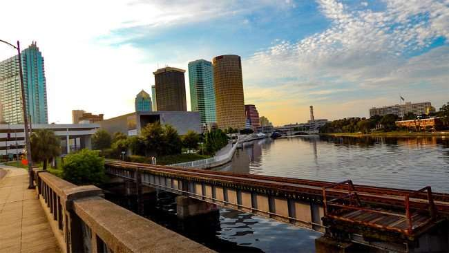 AUG 23, 2015 - Original photographed of Hillsborough River in Downtown Tampa, FL/photonews247.com