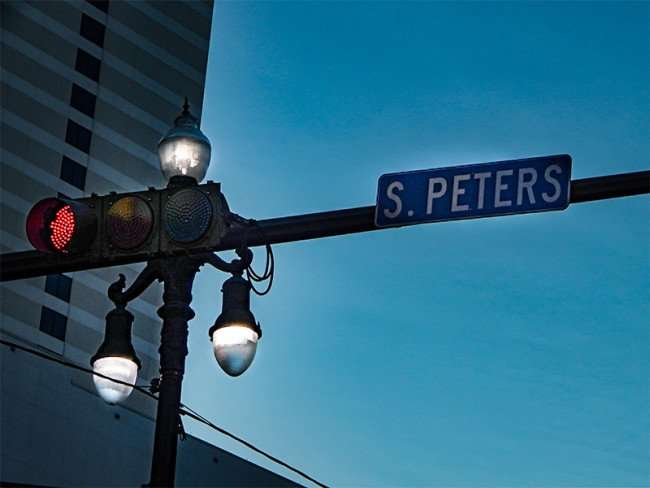 Sept 14 2017 Horizontal Taffic Lights On S Peters Street In New Orleans La Photonews247