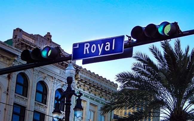 SEPT 13, 2015 - Horizontal traffic signal light on Royal St in New Oleans, LA/photonews247.com