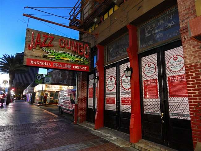 NOV 19, 2015 - Jazz Gumbo, a Magnolia Praline Company on Canal Street, New Orleans, LA/photonews247.com
