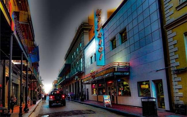 SEPT 13, 2015 - Krystal 24 hour fast food restaurant at the beginning of Bourbon Street in New Orleans, LA/photonews247.com