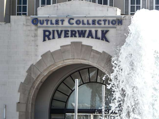 SEPT 14, 2015 - Main entrance to Outlet Collection Riverwalk shopping center in New Orleans, LA/photonews247.com