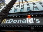 SEPT 13, 2015 - McDonalds Restaurant front facade with logo on banner on Canal Street, New Orleans/photonews247.com