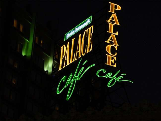SEPT 14, 2015 - Neon sign that reads 'Dickie Brennans Palace Cafe' on Canal Street, New Orleans/photonews247.com