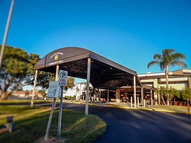 NOV 23, 2015 - New Portico at Community Hall on South Pebble Beach Blvd, Sun City Center FL/photonews247.com