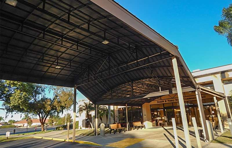 NOV 23, 2015 - New drive-under portico at Community Hall on South Pebble Beach in Sun City Center FL/photonews247.com