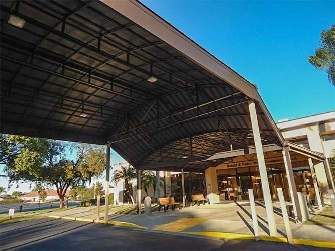 Community hall new portico sun city center fl photo news 247 - Porte cochere pronunciation ...