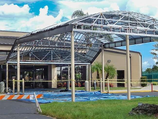 SEP 4, 2015 - New inlet contruction at Community Hall, Sun City Center, FL/photonews247.com