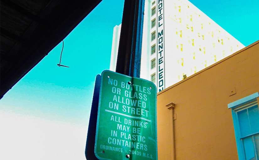 SEPT 13, 2015 - No Bottles Or Glass Allowed but plastic bottles ok New Orleans, LA/photonews247.com