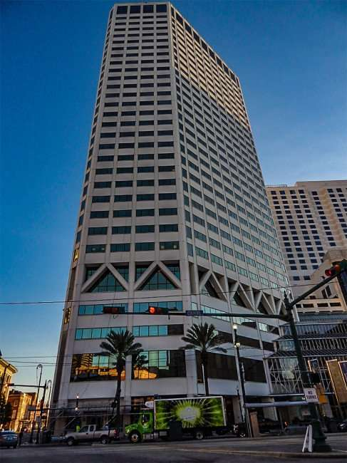 SEPT 14, 2015 - One Canal Place Office Tower next to Shops at Canal Place mall in New Orleans/photonews247.com
