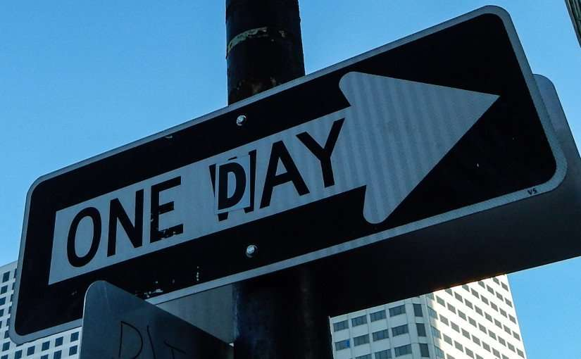 SEPT 13, 2015 - One Day (One Way) sign on Bienville St, New Orleans, LA/photonews247.com