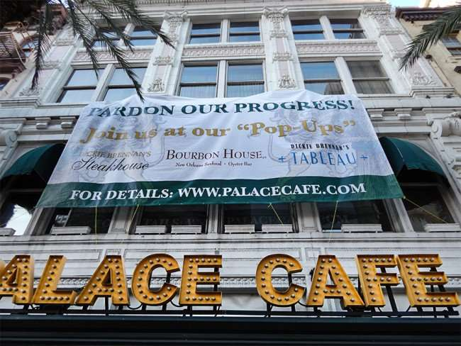 SEPT 13, 2015 - PALACE CAFE being renovated in New Orleans/photonews247.com