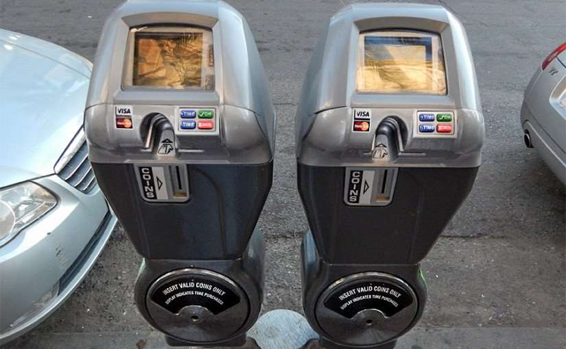 SEPT 13, 2015 - Parking meters take change, Visa and MasterCard for payment in New Orleans, LA/photonews247.com