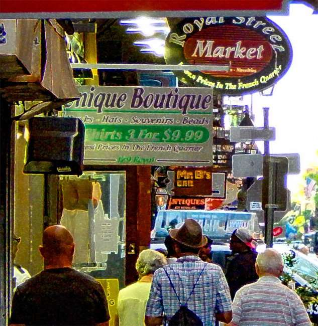 SEPT 13, 2015 - Royal Street Market, and Unique Boutique on Royal Street in French Quarter, New Orleans, LA/photonews247.com