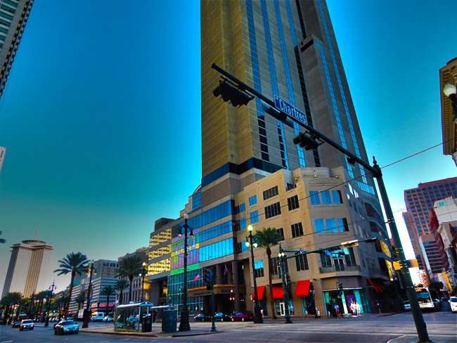 SEPT 13, 2015 - Sheraton New Orleans building from Chartres Street in New Orleans, LA/photonews247.com