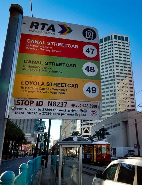 SEPT 13, 2015 - Streetcar sign for Canal and Loyola Street located on Canal Street in New Orleans/photonews247.com