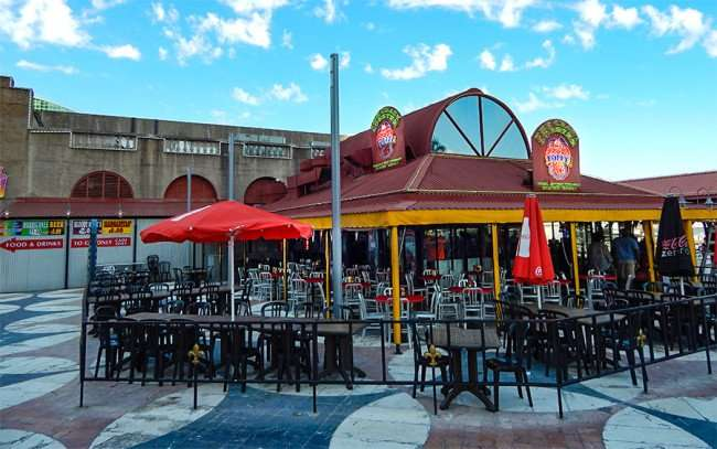 SEPT 14, 2015 - The Crazy Lobster restaurant at New Orleans Riverwalk courtyard by the Outlet Mall/photonews247.com