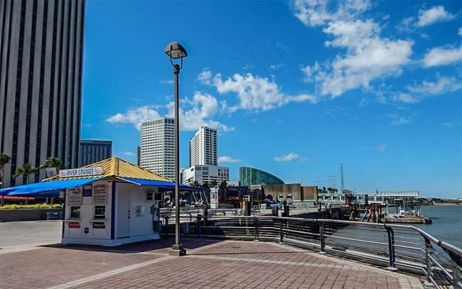 SEPT 14, 2015 - Ticket Booth for River Cruises on the Mississippi River at Riverwalk New Orleans/photonews247.com