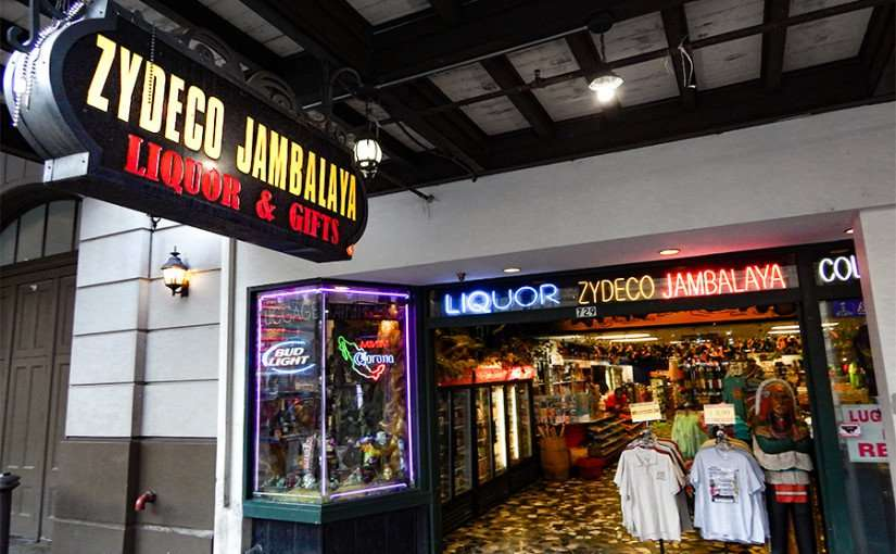 SEPT 13, 2015 - ZYDECO JAMBALAYA Liquor and souvenirs on Canal Street, New Orleans, LA/photonews247.com