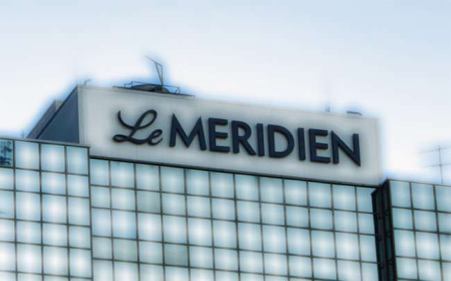 SEPT 14, 2015 - le Meridian Hotel logo on top of building in New Orleans, LA/photonews247.com