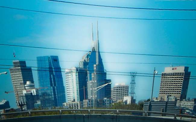 OCT 6, 2015 - ATT Batman building animated view in Nashville Tn/photonews247.com