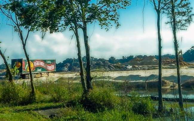 OCT 14, 2015 - Bass Pro Shops construction site along Hwy 75, Gainesville, Florida/photonews247.com
