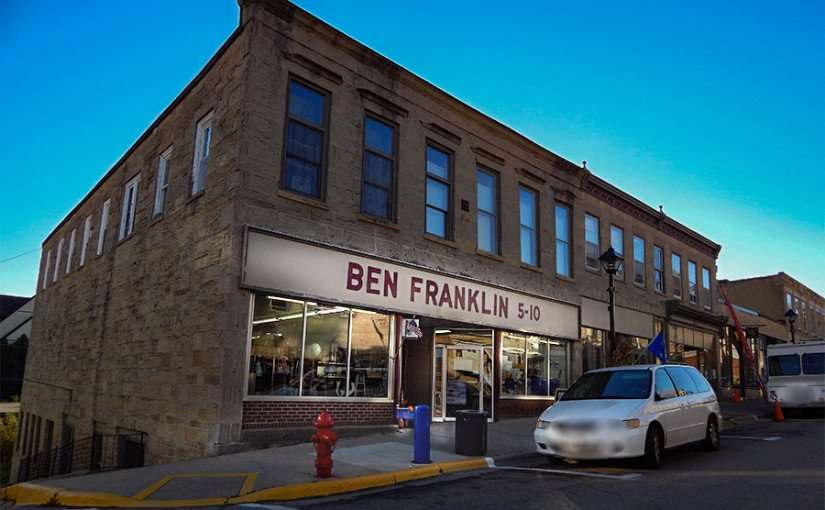 OCT 10, 2015 - Ben Franklin five and dime store on High Street in Mineral Point/photonews247.com