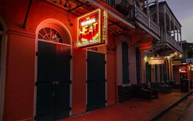 NOV 14 2015 - Bourbon Heat Night Club front doors shut on Bourbon Street in & Bourbon Heat Night Club New Orleans u2013 Photo News 247
