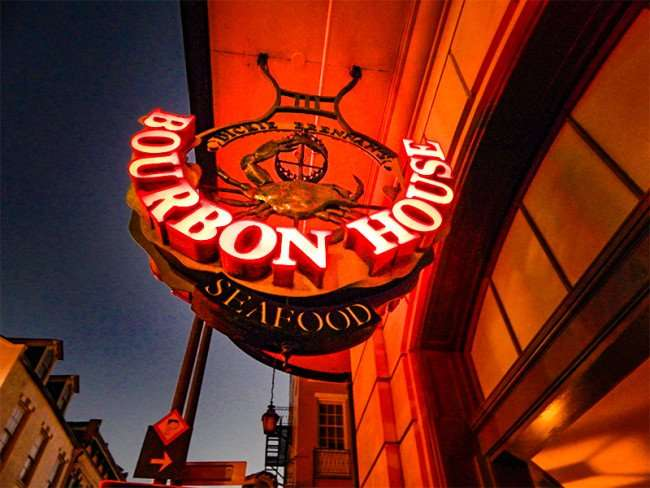 SEPT 14, 2015 - Dickie Brennan's Bourbon House Seafood sign New Orleans, LA/photonews247.com