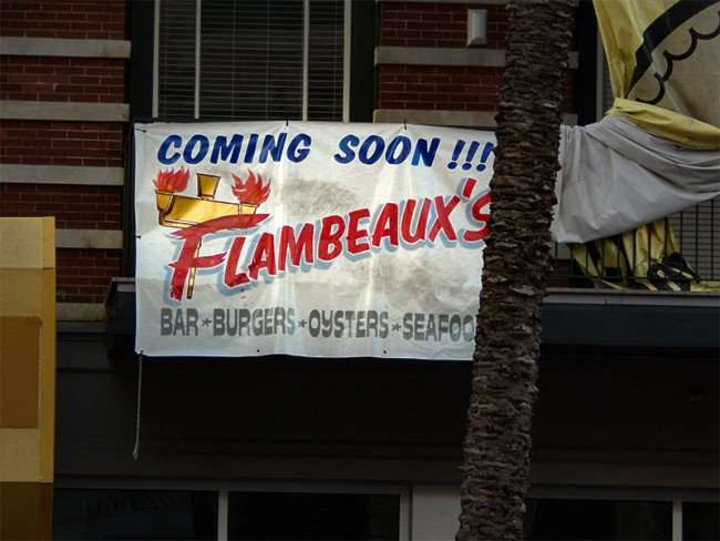 SEPT 14, 2015 - Flambeauxs gourment burger and seafood restaurant, Canal St, New Orleans, LA/photonews247.com