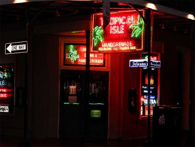 SEPT 14, 2015 - Front door to Tropical Isle bar home of the Hand Grenade mixed drink in the French Quarter/photonews247.com