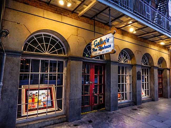 SEPT 14, 2015 - Galerie Rue Toulouse Fine Art Gallery store front Est 1915, New Orleans, LA/photonews247.com
