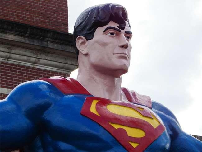 OCT 6, 2015 - Giant Superman statue close up in Metropolis, Illinois/photonews247.com