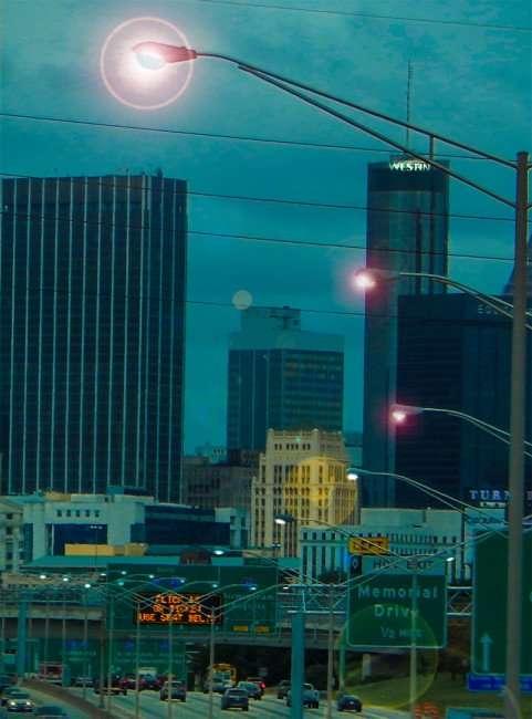 OCT 4, 2015 - Hwy 75 highway lights in Atlanta, Georgia/photonews247.com