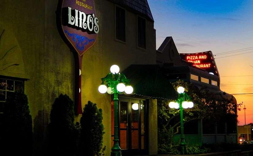 OCT 7, 2015 - LINO'S Pizza and Italian Restaurant front entrance in Rockford, Illinois/photonews247.com
