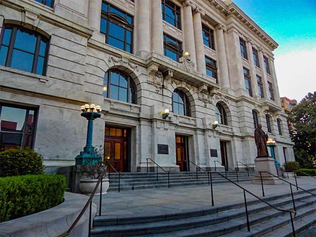 SEPT 14, 2015 - Louisiana State Court of Appeal Fourth Circuit building on Royal Street in New Orleans, LA/photonews247.com