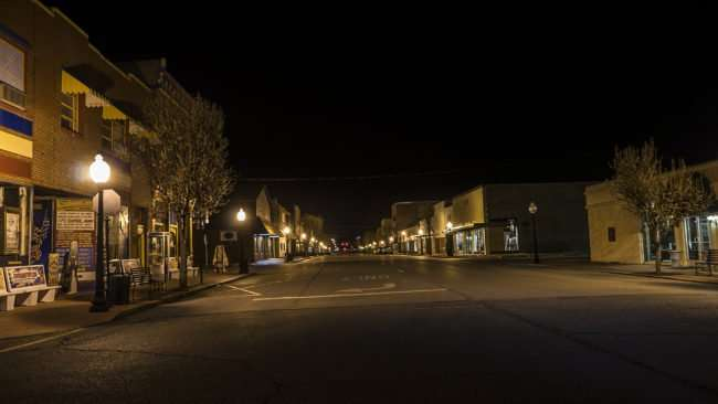 Feb 25, 2017 - Market Street at night in Metropolis IL/photonews247.com